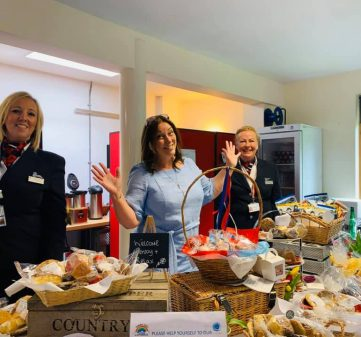 Team Lavender enjoy A royal visit in their Kitchen to help prepare meals for the NHS
