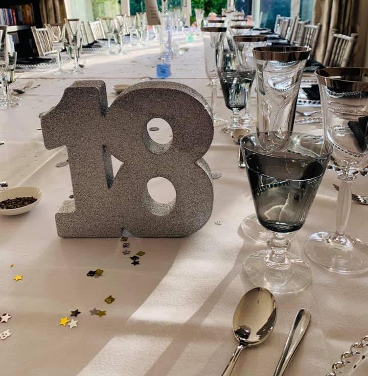 18 birthday Table Setting