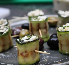 Chargrilled Courgette & Feta wraps