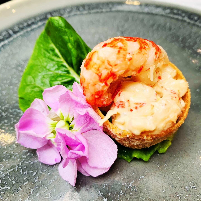 Crayfish, wasabi Mayo and little gem